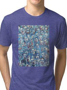 Blue Zombie Horde Tri-blend T-Shirt
