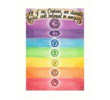 Chakra Healing Art Print