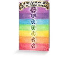 Chakra Healing Greeting Card