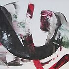 The red/black concept 4 - Miss - Original mixed media Abstract painting by Dmitri Matkovsky