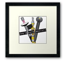 Who'd have sonic?! Framed Print