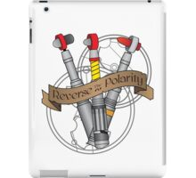 Reverse the Polarity! iPad Case/Skin