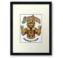 SUPER VEGAN Framed Print