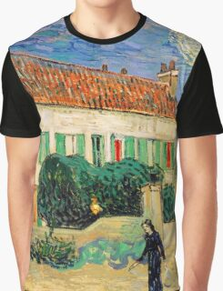 White House at Night by Vincent Van Gogh Graphic T-Shirt