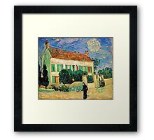 White House at Night by Vincent Van Gogh Framed Print