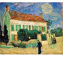 White House at Night by Vincent Van Gogh Photographic Print