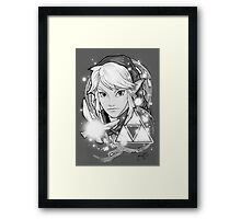 Legend Of Zelda Tattoo B&W Framed Print