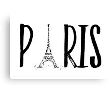 PARIS Typografie  Canvas Print