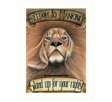 F.T.M Lion of Freedom Art Print