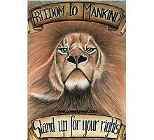 F.T.M Lion of Freedom Photographic Print