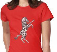 ZEBRA RAMPANT Womens Fitted T-Shirt