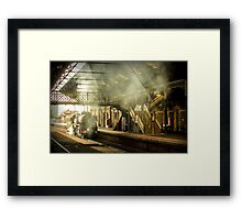 Geelong Station Foot Bridge City of Melbourne Steam Train #5 Framed Print