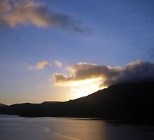 Sunrise in Cook Strait, New Zealand by jezkemp