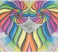 Love Heart spiral by Francesca Love Artist