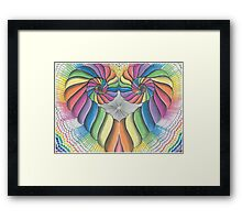 Love Heart spiral Framed Print