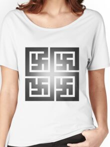 Nya Variant 2 Tiled Women's Relaxed Fit T-Shirt