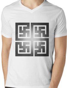 Nya Variant 2 Tiled Mens V-Neck T-Shirt