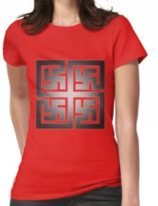 Nya Variant 2 Tiled Womens Fitted T-Shirt