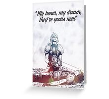 Cloud Strife and Zack Fair Last Moment Greeting Card
