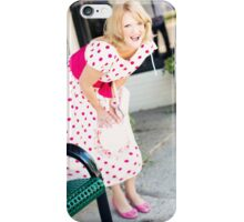 happy surprised blonde  woman  iPhone Case/Skin