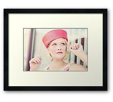 Portrait of beautiful young blond woman Framed Print
