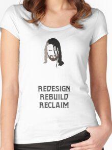 Minimalist Seth Rollins Women's Fitted Scoop T-Shirt