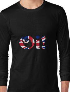 OI! Union Jack, British Slang Long Sleeve T-Shirt