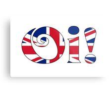OI! Union Jack, British Slang Metal Print