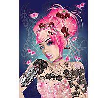 Raspberry ink Photographic Print