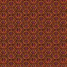 Bold Brown Floral Pattern  by Ra12