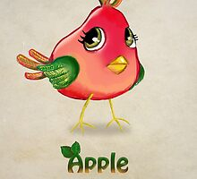Apple Bird by Princess-Suki