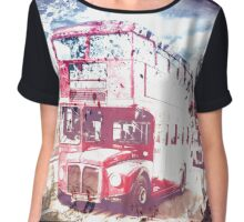 City-Art LONDON Red Buses on Westminster Bridge Chiffon Top