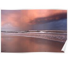 Storm over Kingscliff Beach  Poster