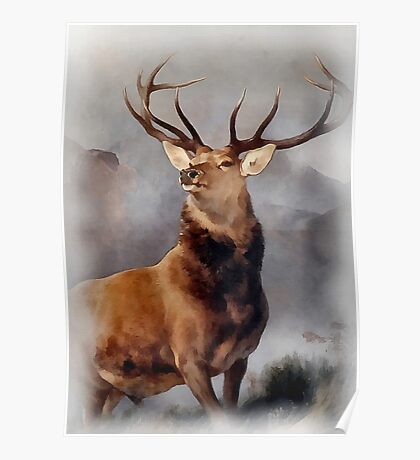 MONARCH OF THE GLEN, Digital Painting of this famous Stag Poster