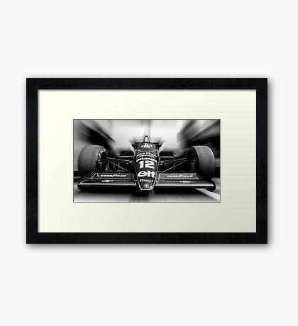 Ayrton Senna (Black & White) Framed Print