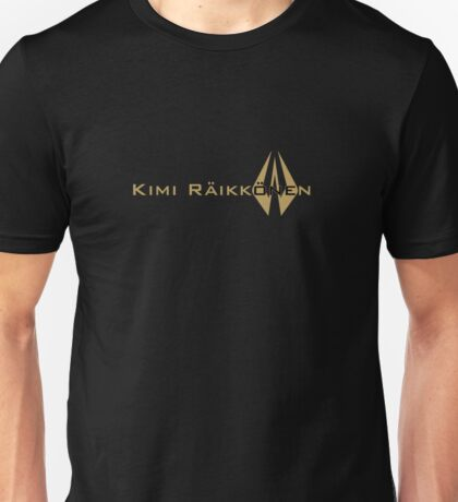 Kimi Raikkonen (Black & Gold) Unisex T-Shirt