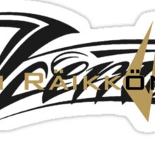 Kimi Raikkonen - Iceman (Black & Gold) Sticker