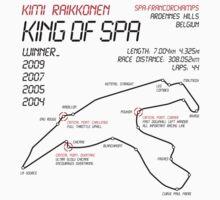 Kimi Raikkonen - King of Spa! Kids Clothes