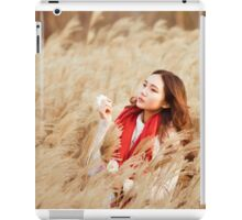 Asian woman in a wheat field iPad Case/Skin