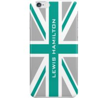 Lewis Hamilton (Team colours) iPhone Case/Skin