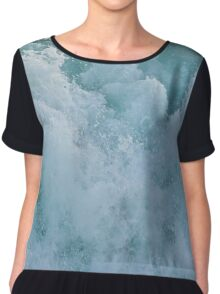 BUBBLES ON THE OCEAN Chiffon Top