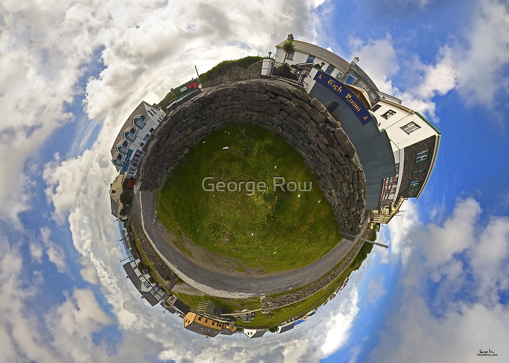Tigh Ruairi - Inisheer Village (Sky out)  by George Row