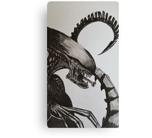 Alien watercolour and ink Canvas Print