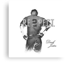Respect Derek Jeter Canvas Print