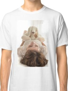 girl with a soft toy  Classic T-Shirt