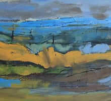 landscape blue by H J Field