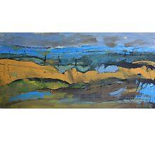 landscape blue Photographic Print