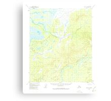 USGS TOPO Map Alaska AK Ruby D-2 358616 1952 63360 Canvas Print