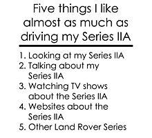 5 Things I Like - Series 2A Photographic Print