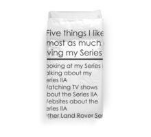 5 Things I Like - Series 2A Duvet Cover